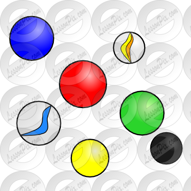 Picture for classroom therapy. Marbles clipart name