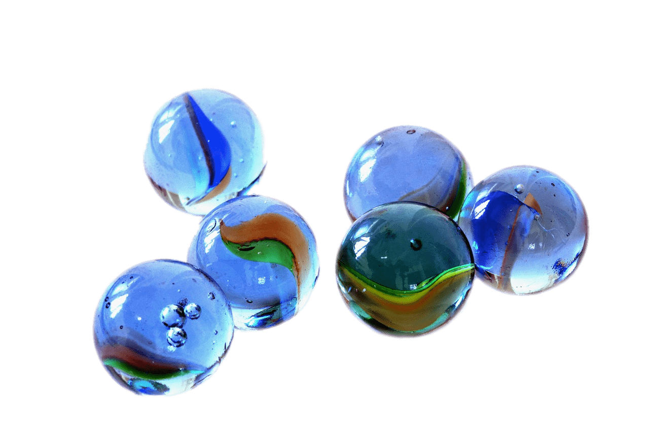 Small blue transparent png. Marbles clipart real