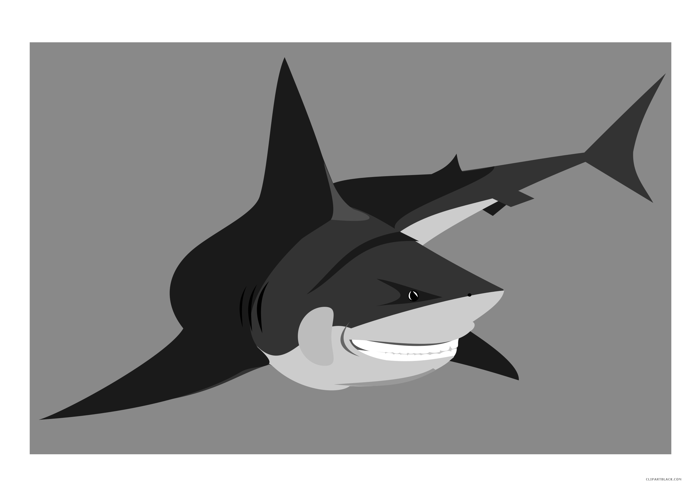 Shark animal free black. Worm clipart friendly
