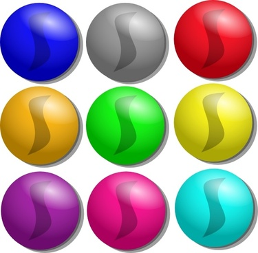 Marbles clipart set. Vector free download for