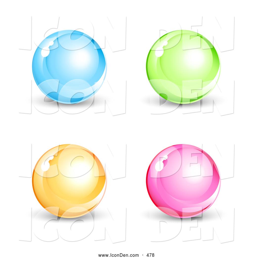 Marbles clipart set. Clip art of a