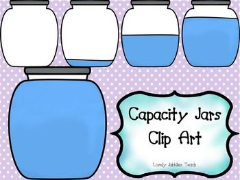 Marbles clipart three. Capacity jars math clip