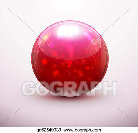 Stock glass illustration . Marbles clipart vector