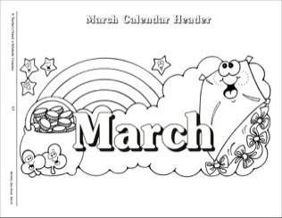 March clipart black and white. Free download clip art