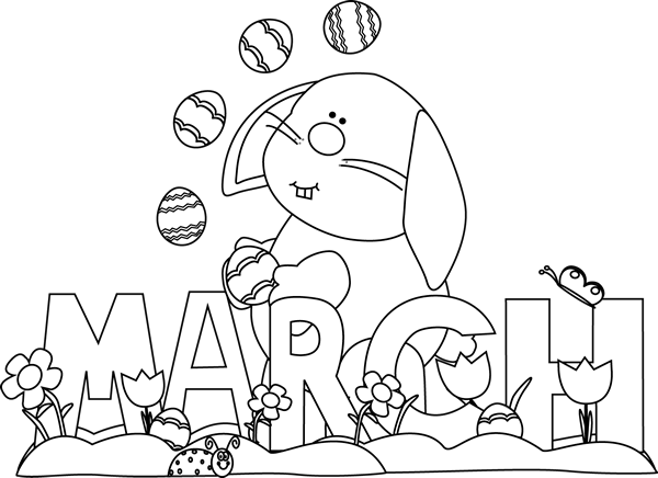 Clip art images gallery. March clipart black and white