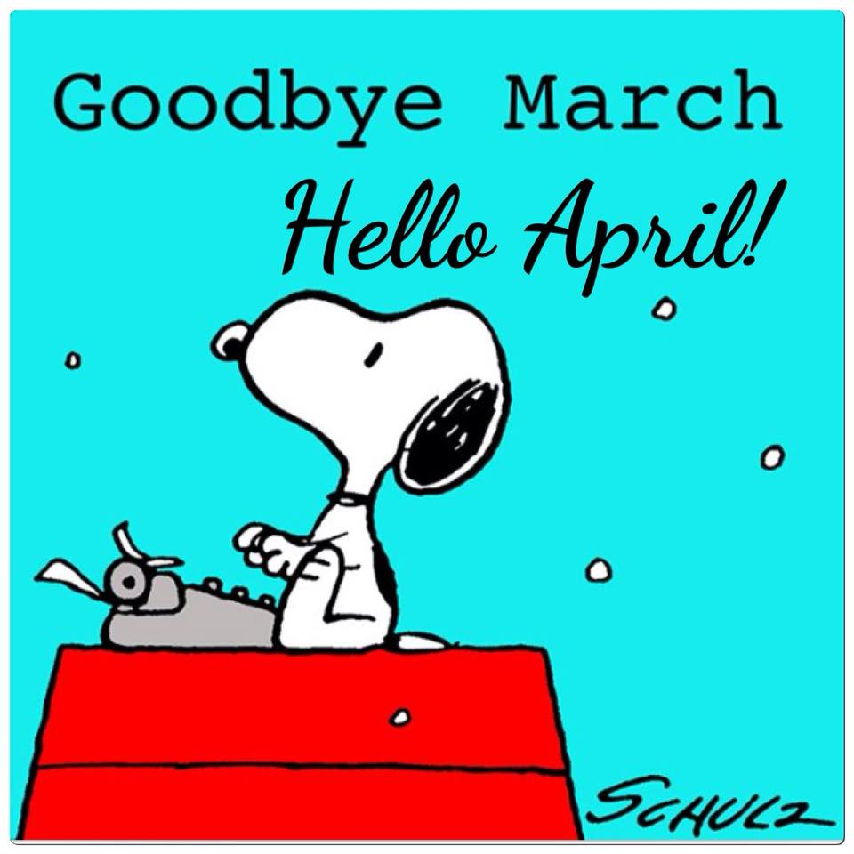 Charmed life goodbye hello. March clipart good bye