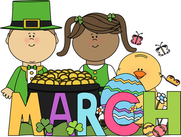 March clipart march holiday. Month of holidays preschool