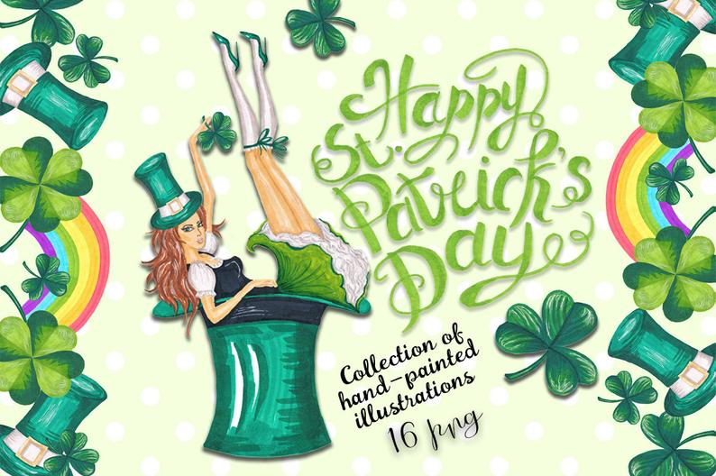 Patrick s day spring. March clipart st pats