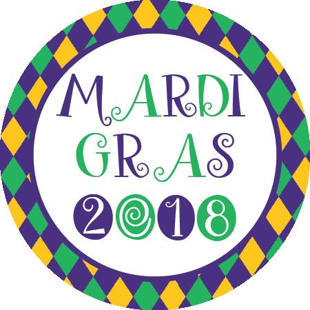 Napkin knot argyle qty. Mardi gras border png