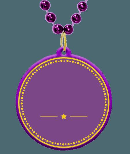 Custom bead medallion in. Mardi gras border png