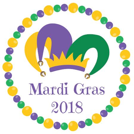 Napkin knot bead qty. Mardi gras border png