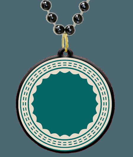 Mardi gras border png. Custom bead medallion in