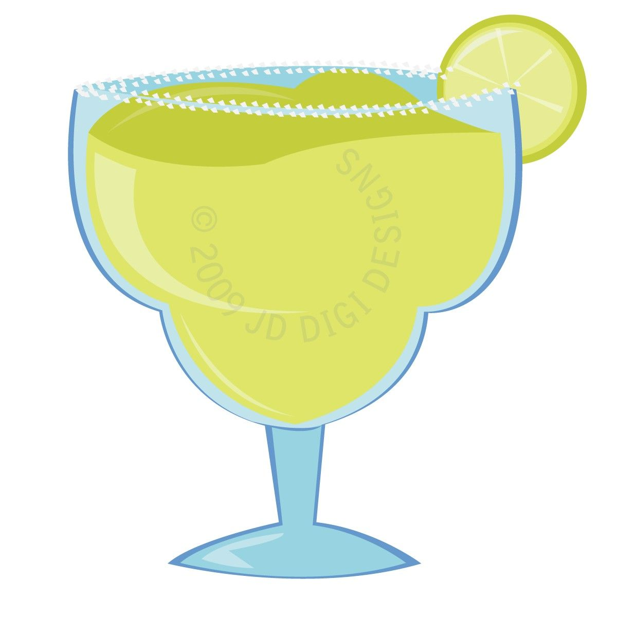 Glass template from votes. Margarita clipart
