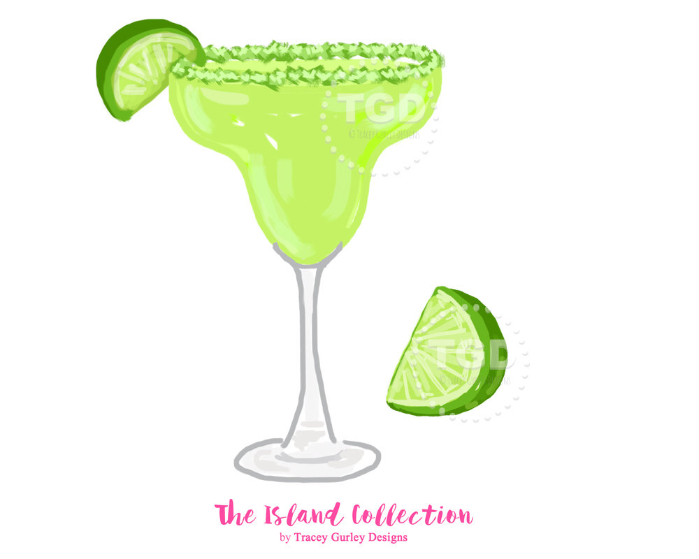 Preppy and lime wedge. Margarita clipart