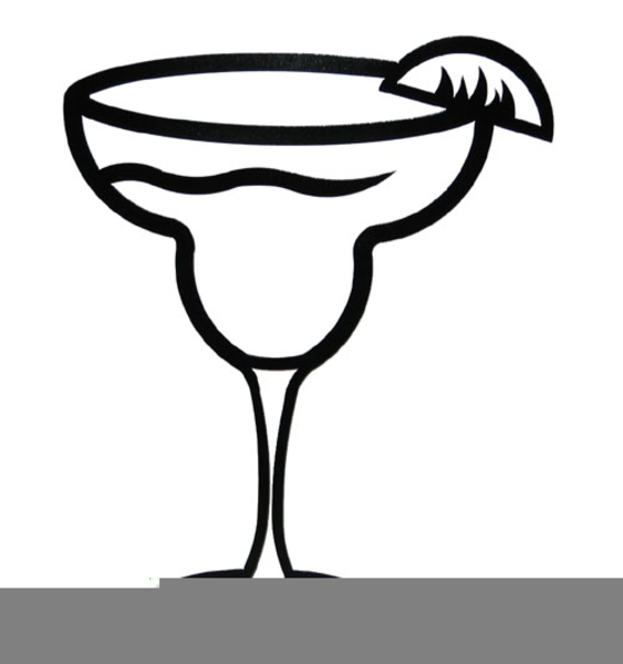 Margarita clipart. Black and white free