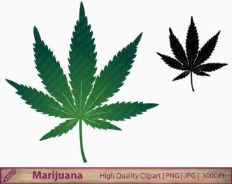 Marijuana clipart. Cannabis etsy marihuana weed