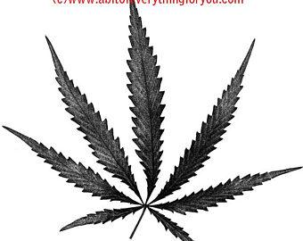 Cannabis etsy pot leaf. Marijuana clipart