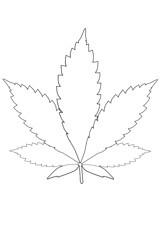 Leaf . Marijuana clipart black and white