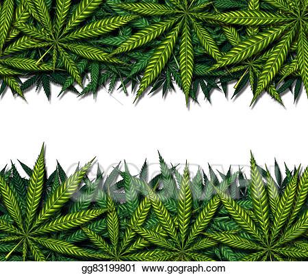 Stock illustration design . Marijuana clipart border