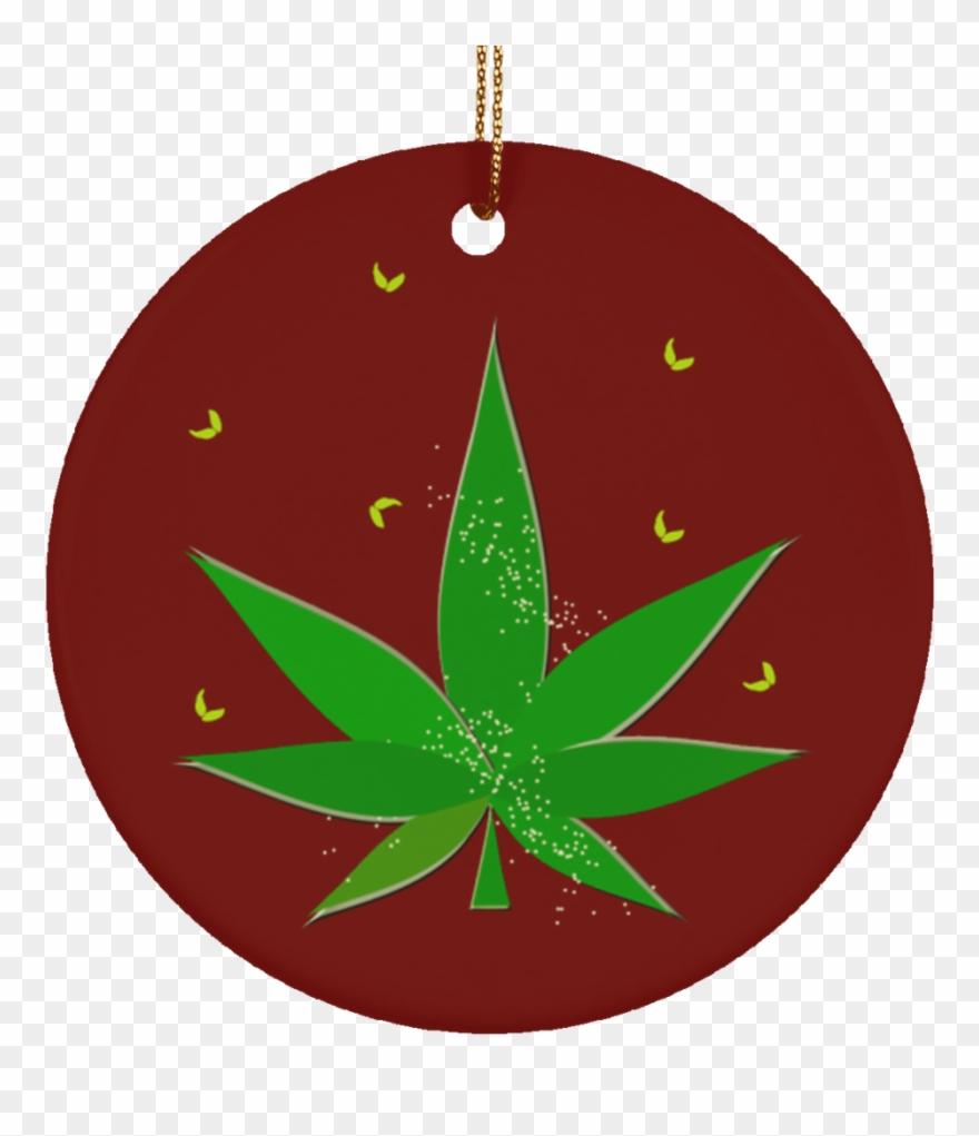 Marijuana clipart christmas. Circle pinclipart