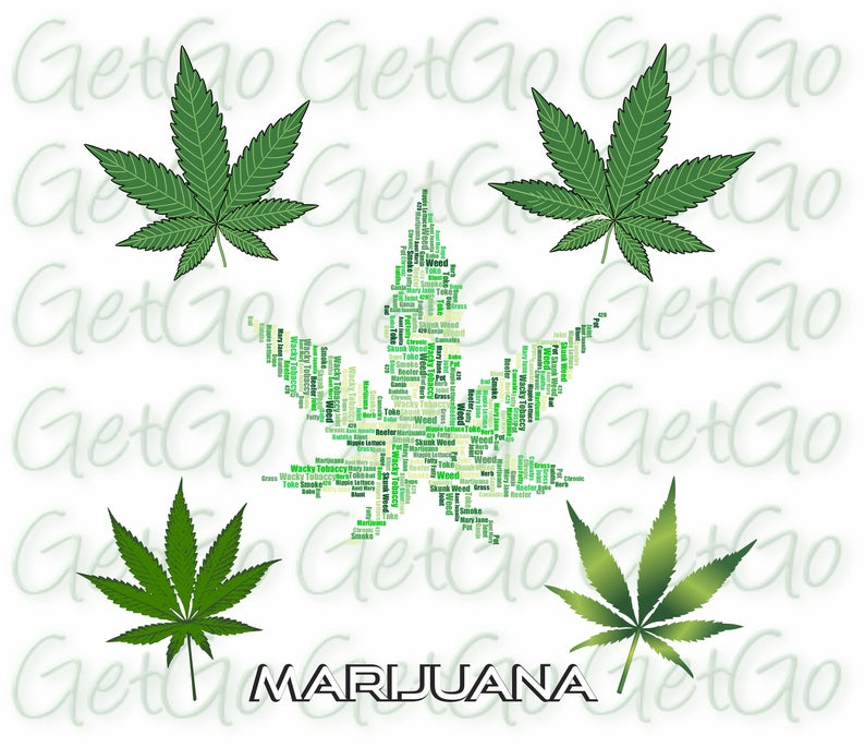 Cannabis vector cricut silhouette. Marijuana clipart copyrighted