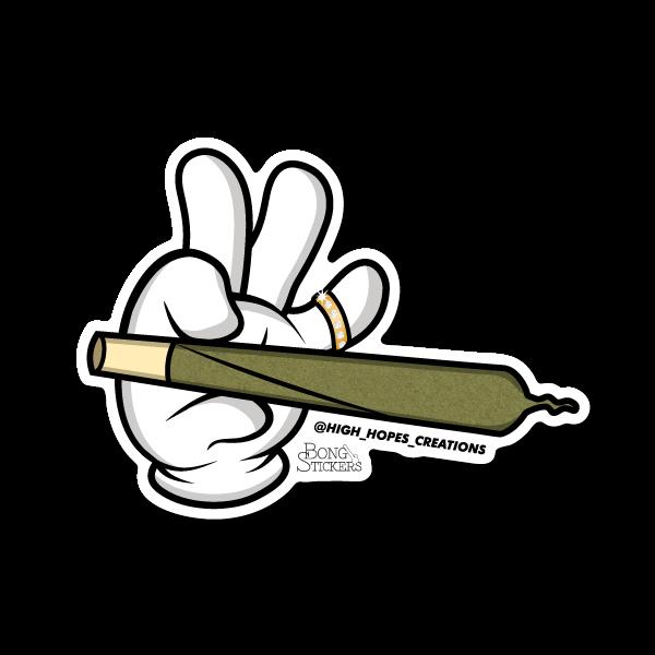 Raw joint hand weed. Marijuana clipart draw