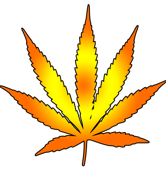 Cannabis leaf free images. Marijuana clipart draw