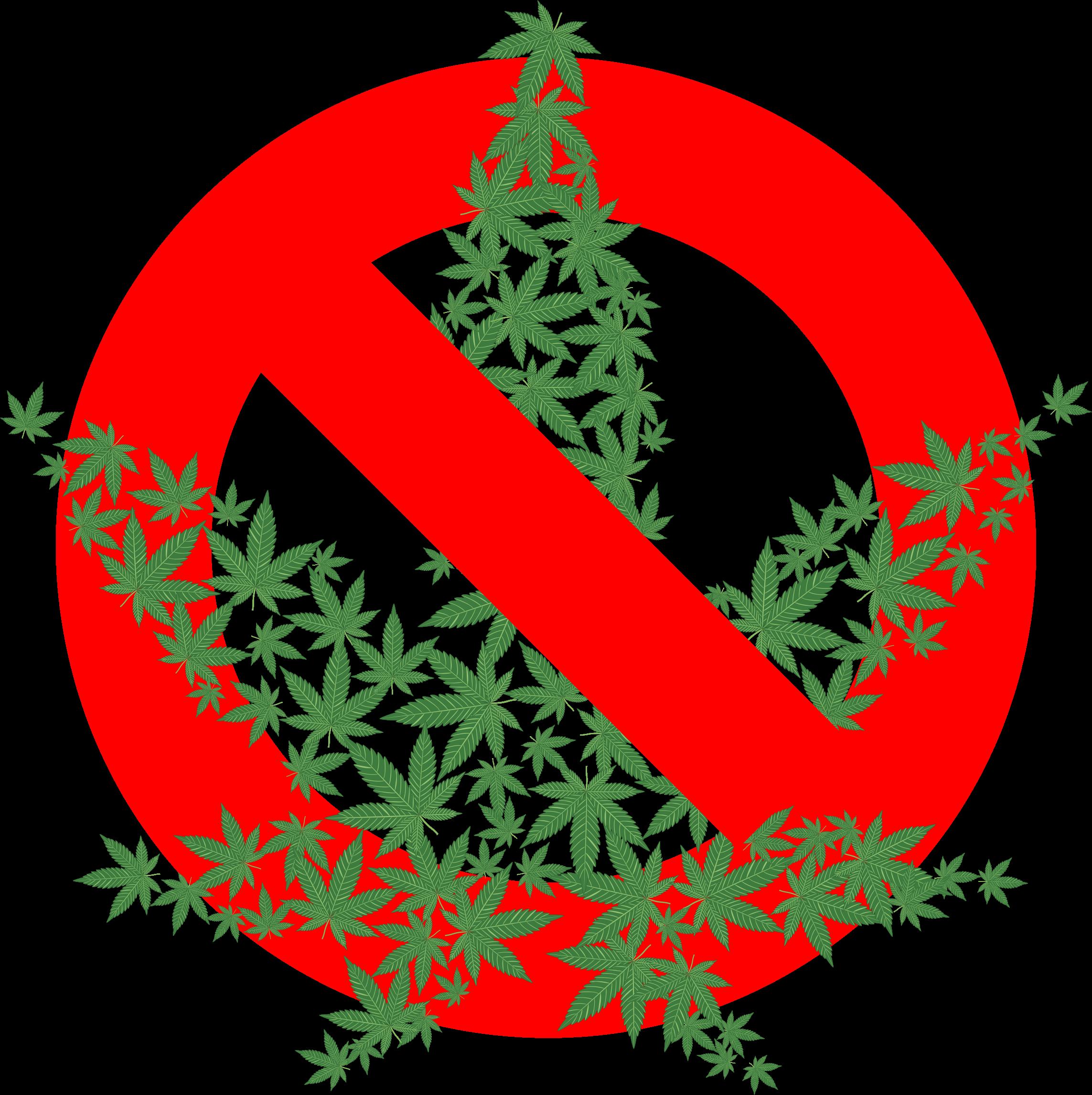 Marijuana clipart illegal. Fractal prohibited big image