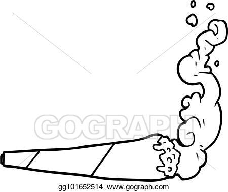 Marijuana clipart joint. Clip art vector line