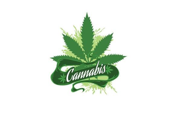 Medical weed vector clip. Marijuana clipart pdf