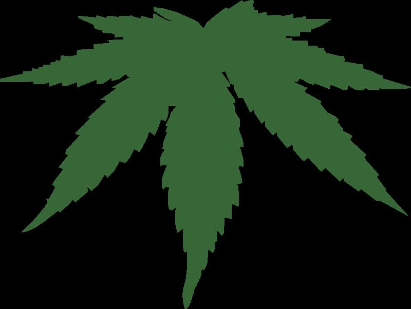 Marijuana clipart silhouette. Cannabis leaf medium image