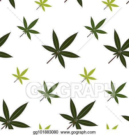 Vector illustration leaves stock. Marijuana clipart tropical plant
