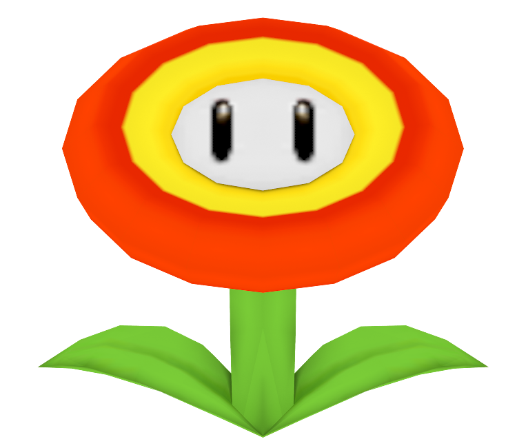 ds super mario. Fire flower png