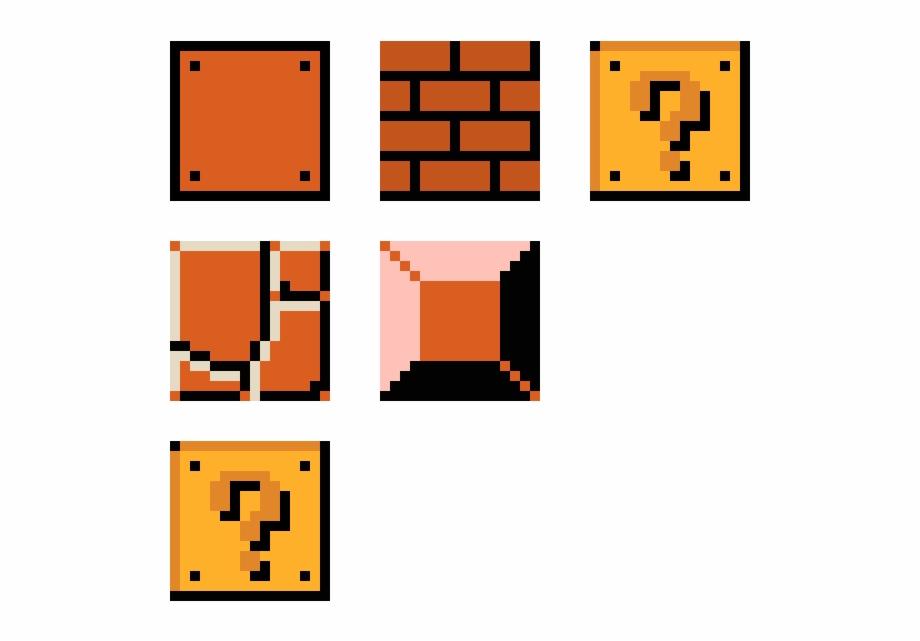 Blocks pixel art free. Mario clipart mario block