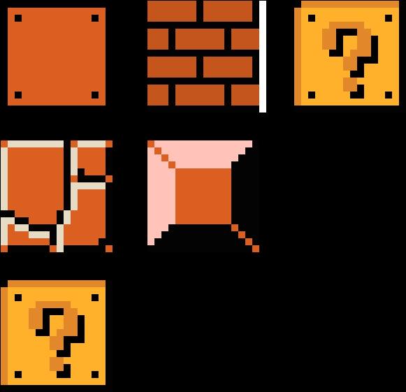 Blocks pixel art clip. Mario clipart mario block