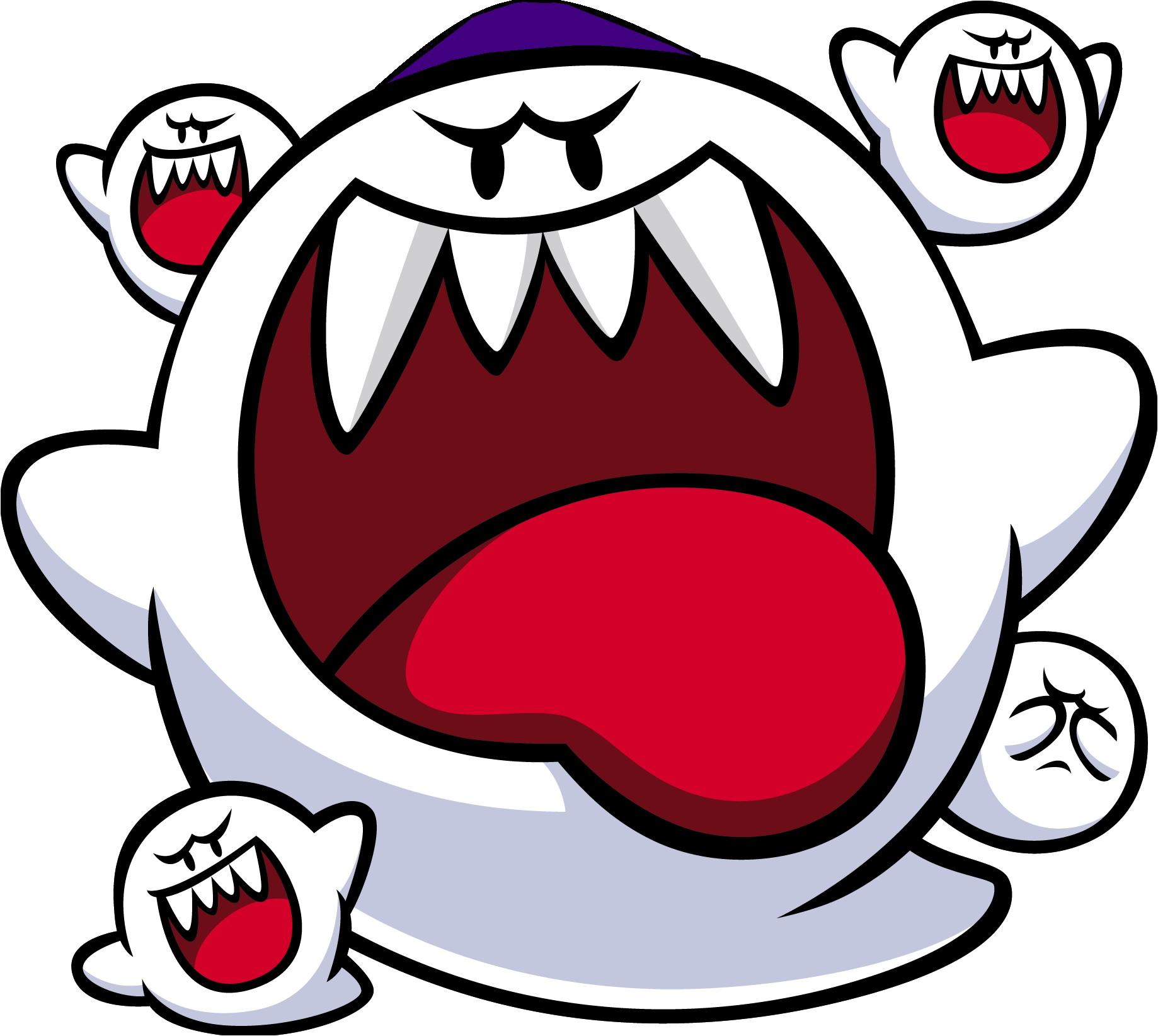 Image big boo artwork. Mario clipart mario ghost