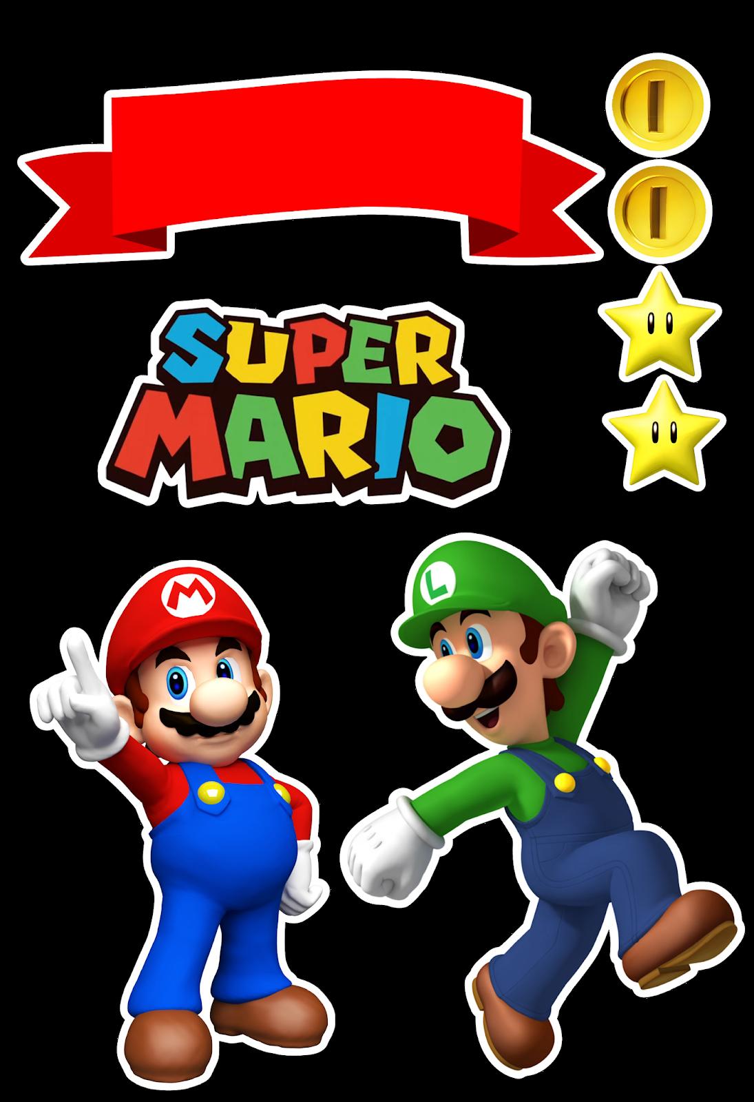 Super bros free printable. Mario clipart random