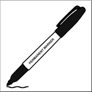 Marker clipart. Clip art permanent black