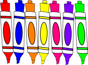 Marker clipart. Markers panda free images