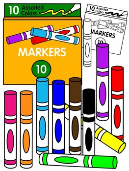 Color and black white. Marker clipart