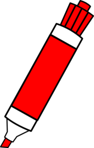Markers clipart. Red dry erase marker