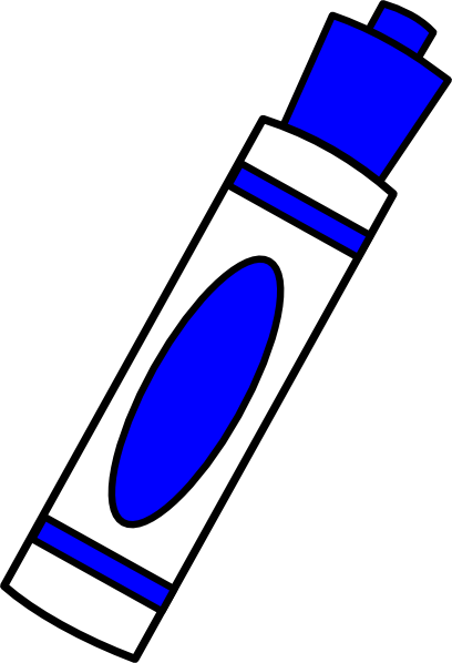 Markers clipart 5 thing. Marker blue clip art