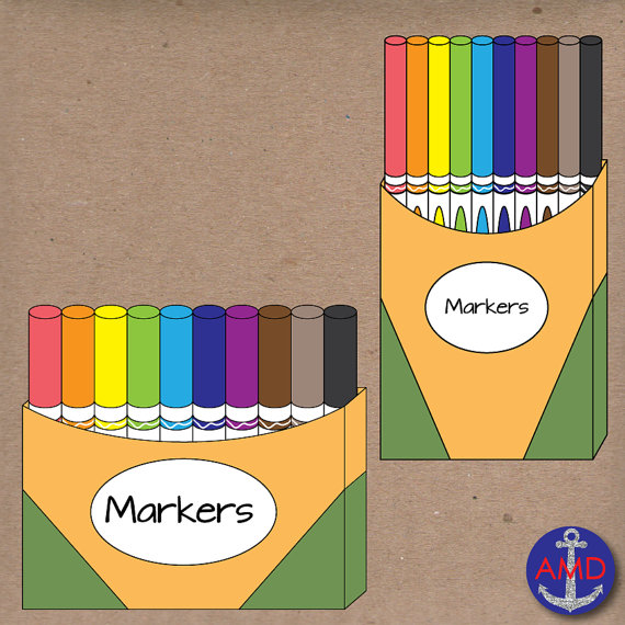 Free crayola cliparts download. Markers clipart box marker