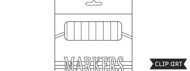 Template . Marker clipart box marker