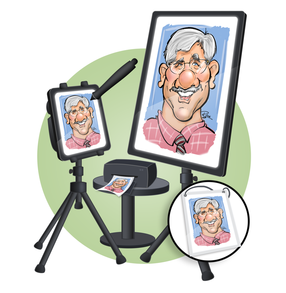 Packages and rates caricatures. Markers clipart caricature
