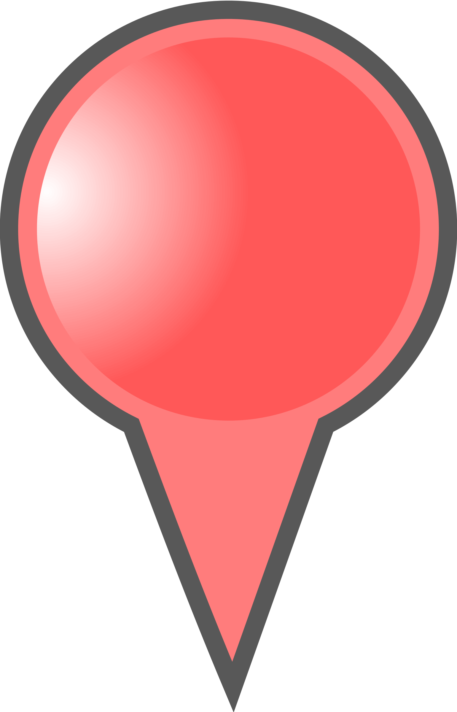 Markers clipart broadline. Red map marker