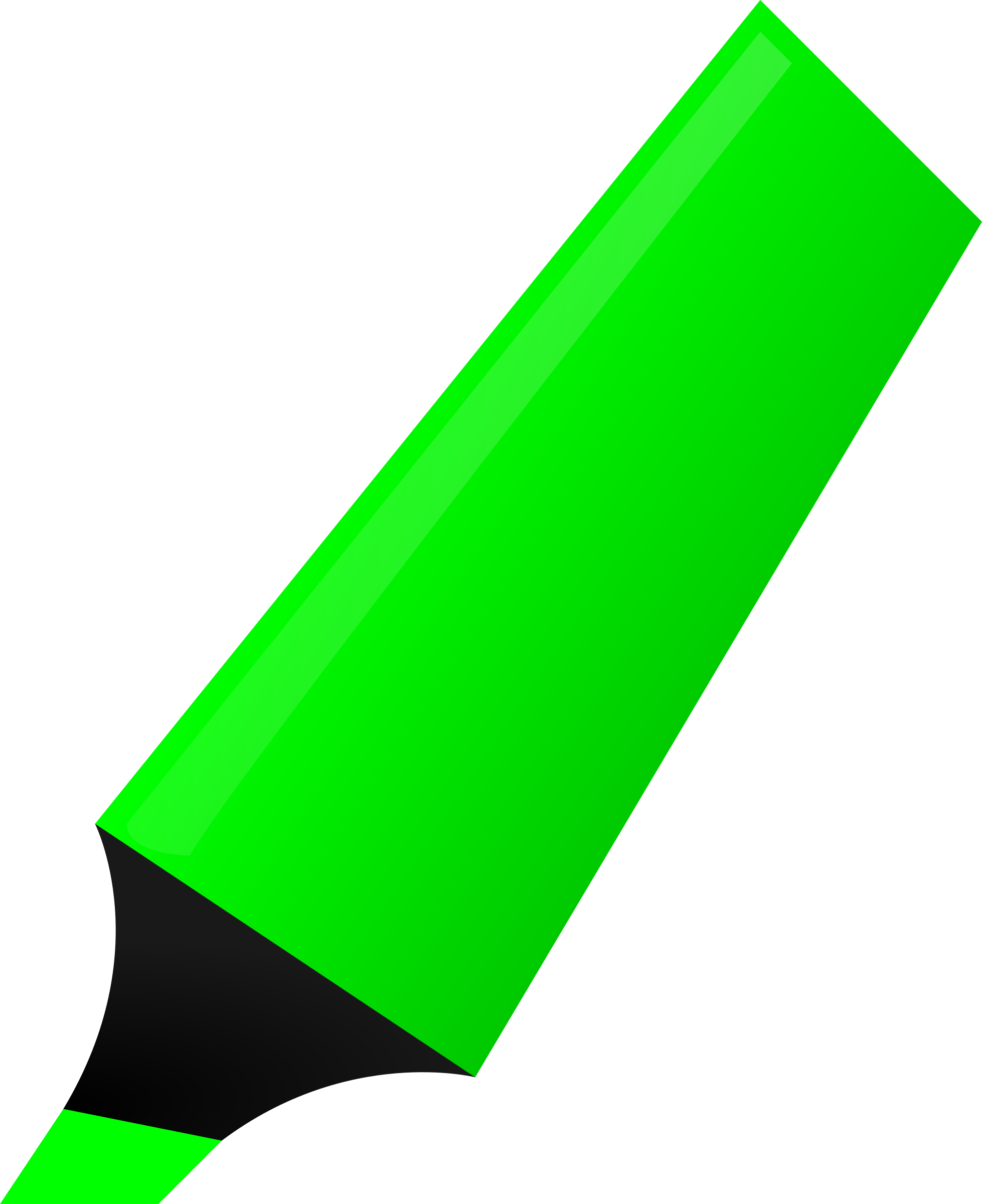 Markers clipart blue. Green highlighter big image