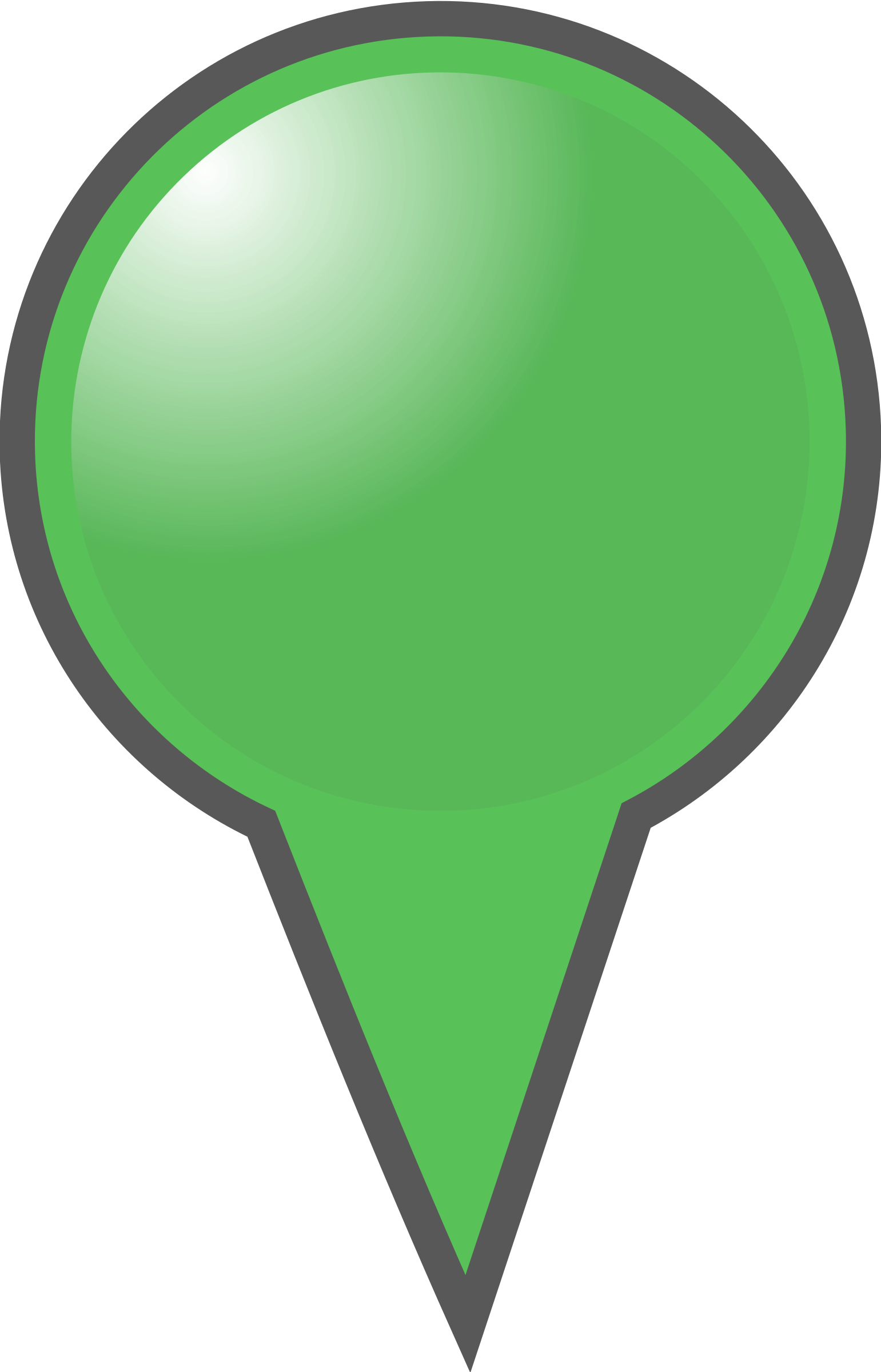 Map marker big image. Markers clipart green