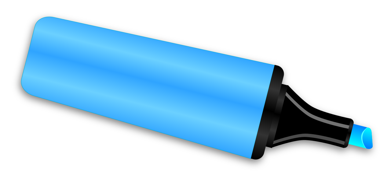 Markers clipart highlighter. File marker svg wikimedia