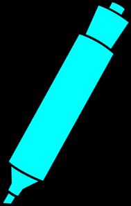 Blue marker png svg. Markers clipart highlighter